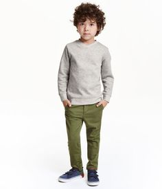 Cotton Chinos | Khaki green | Kids | H&M US