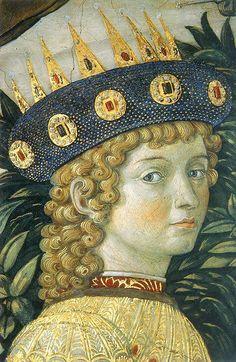 Benozzo Gozzoli - detail, portrait of Lorenzo de' Medici, detto il magnifico | Benozzo Gozzoli [~1420-1497] Adoration of the magi, 1459 Firenze Palazzo Medici-Riccardo private chapel