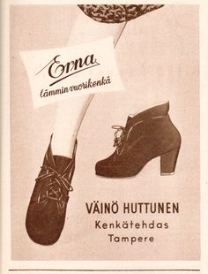 Shoe add from a Finnish magazine from 1953