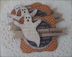 Spooktacular Halloween Tag Embellishments by PaperPrettyBoutique, $4.50