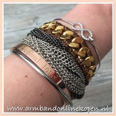 ETERNAL LOVE ... Simple but timeless !! Hoe leuk is deze combi ?! Met deze armband geef je je pols een extra betekenis ! www.armbandonlinekopen.nl