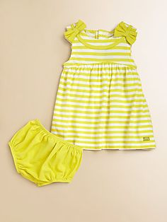 Lili Gaufrette Infant's Striped Jersey Cotton Dress & Bloomers Set