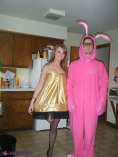 A Christmas Story Movie Character Costumes Leg Lamp and Pink Nightmare - Photo 2/2