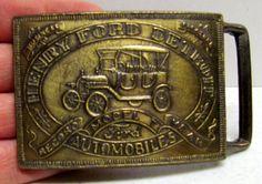 Vintage Belt Buckle, HENRY FORD, Detroit Automobiles, Model T, Record Year, Ford by VINTAGEandMOREshop on Etsy https://www.etsy.com/listing/219188179/vintage-belt-buckle-henry-ford-detroit