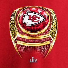 Kansas City Chiefs NFL Pro Line by Fanatics Branded Super Bowl LIV Champions Ring T-Shirt - Red Nfl Pro, Kansas City Chiefs, Root Beer, Porsche Logo, Super Bowl, Champion, Ring, Shirt, Beer