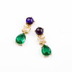 bc405a2d9186 New Styles KISS ME Fashion Jewelry Resin Water Drop Fashion Earrings  Christmas Gifts Pendientes Púrpura