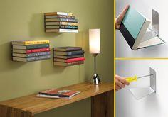 diy invisible book shelves