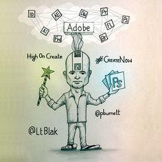 Creative Cloud & Paul Burnett by Lt Blak, via Behance