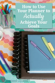 I love the idea of using my planner to help me achieve my goals. It only takes a little time to schedule things in so they don't get forgotten in day to day life.