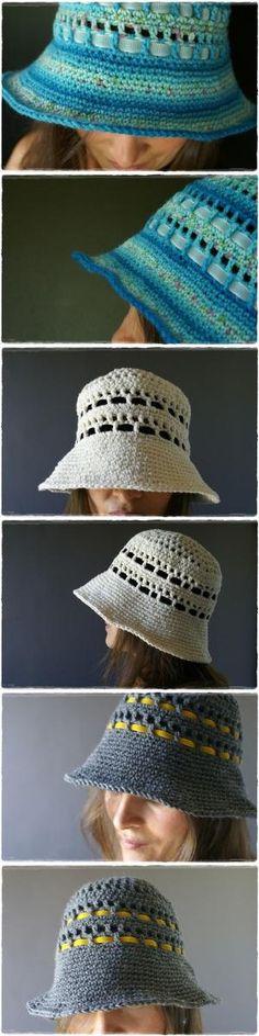Summer hat tutorial by CarolynCrochet