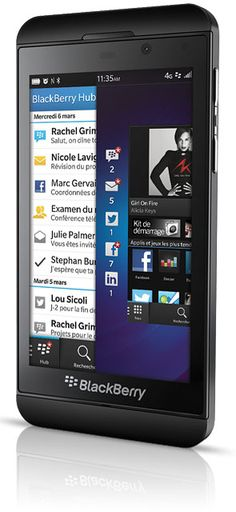 BlackBerry Z10  Nice phone, I want one but it won't be for some time yet alas :-(