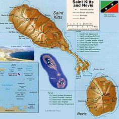 Saint Kitts and Nevis Map ... I am from these beautiful islands!