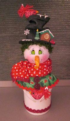 Muñecas Tania: Navidad Easy Christmas Decorations, Diy Christmas Ornaments, Simple Christmas, Xmas, Holiday Decor, Clay Jar, Rena, Snowman Crafts, Snow Globes
