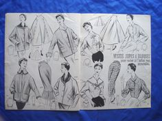 vintage French ECLAIR COUPE PARIS drafting sewing patterns 50s Lutterloh (67) | eBay