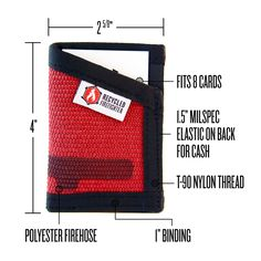 Slim, Durable, USA Made Credit Card Wallet That Is Sewn To Last and Super Comfortable as a Front Pocket Wallet. The Sergeant Wallet is designed to be carrie...