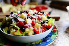 Pesto Pasta Salad- a hearty 'dinner' salad with some carbs. Maybe even add some salami?