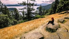 Gulf Islands national parks reserve. campsites available by boat. 5.5 hrs from Seattle