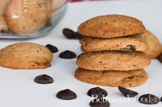 Gluten free chocolate chip cookies that have a chewy and chocolaty consistency. These taste so good you won't believe they are gluten free. Ice Cream Scooper, Gluten Free Chocolate Chip Cookies, Cacao Nibs, Fast Recipes, Delicious Chocolate, Cookie Dough, Baking Soda, Desserts, Food