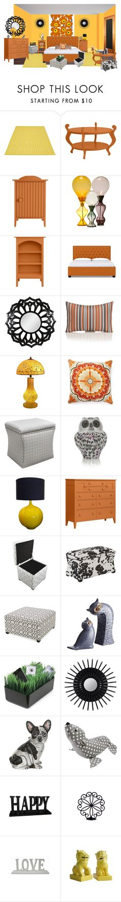 """happy"" by sterlingkitten on Polyvore featuring interior, interiors, interior design, home, home decor, interior decorating, Marimekko, Pappelina, Cooper Classics and Universal Lighting and Decor"