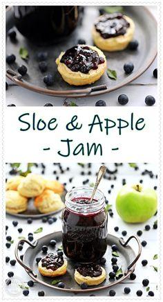 My Sloe Jam Recipes, Sweet Recipes, Real Food Recipes, Canning Recipes, Apple Recipes, Sloe Berries, Apple Jam, Good Food, Yummy Food