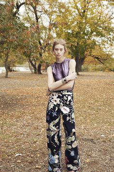 The New Florcore: Ondria Hardin by Cass Bird for Vogue US November 2014 - Gucci Resort 2015 pants