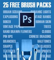 25 Free Brush Packs for Photoshop / 25 Packs de Pinceles Gratuitos para Photoshop