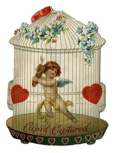 "From the Victorian Valentines collection: ""Cupid Captured"""