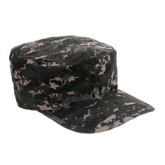 Unisex Cool Canvas Camouflage Flat-top Cap Hat Army Green Camouflage  Military Soldier Combat Hats de4f0007b157
