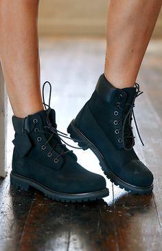 Timberland | Women's 6-Inch Premium Waterproof Boots - Black Nubuck | Back In Stock | Peppermayo