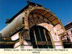 Metro Station Karlsplatz in Wien by Otto Wagner in 1894-98