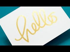 5 Ways to Add Gold Foil - YouTube