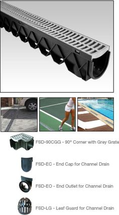 Fernco FSDP-CHGG StormDrain Plus Channel Drain with Grey Grate – Channel and Trench Drains – Landscape & Drainage Gutter Drainage, Drainage Ditch, Yard Drainage, Driveway Drain, Drainage Solutions, Drainage Ideas, Landscape Drainage, French Drain, Rain Barrel