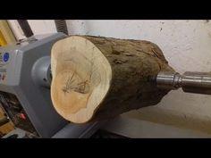 Woodturning - Log to Bowl Wood Turning Lathe, Wood Turning Projects, Wood Lathe, Learn Woodworking, Woodworking Workshop, Woodworking Crafts, Woodworking Organization, Youtube Woodworking, Woodworking Desk