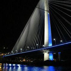 The New Ada Bridge at Night.
