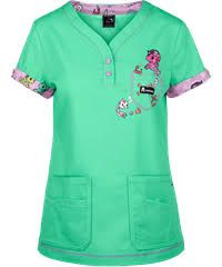 koi Scrubs tokidoki Looking For Shells Print Top Cute Scrubs Uniform, Koi Scrubs, Medical Scrubs, Nurse Scrubs, Nurse Costume, Medical Uniforms, Scrub Tops, Work Wear, Fashion Outfits