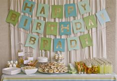 Backyard Southern picnic first birthday party - big birthday banner Picnic Birthday, Boy Birthday Parties, Happy Birthday Banners, Birthday Ideas, 13 Birthday, Birthday Wishes, Bow Tie Party, Little Man Party, Festa Party