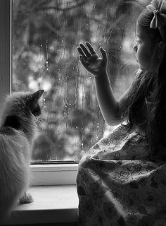 Watching the rain - photo by mechtaniya