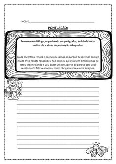 xxxxx Portuguese Lessons, Learn Portuguese, Kids Learning Activities, Teaching, Writing, Education, School, Atv, Punctuation Activities