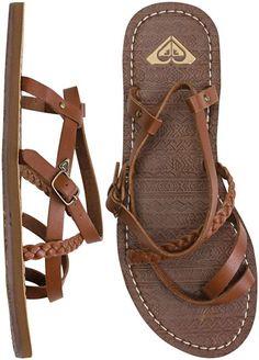 Beautiful Dark Brown Flat Sandals