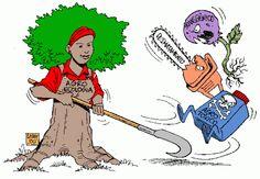 A agroecologia é um sistema de produção agrícola alternativa que busca a sustentabilidade da agricultura familiar resgatando práticas que permitam ao agricultor pobre produzir sem depender de insumos industriais como agrotóxicos, por exemplo. – Charge por Latuff, no Humor Político