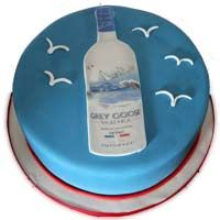 Grey Goose Vodka Theme Cake