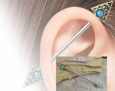 Items similar to Industrial Barbell 14g Earring, Cupids Arrow Industrial Barbell Ear Piercing Arrowhead Heart Removable Charm 14g 14 16g G 16 Gauge on Etsy