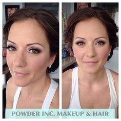 Bridal makeup for outdoor vineyard wedding  Makeup and hair by Nicole at www.powderincbeauty.com