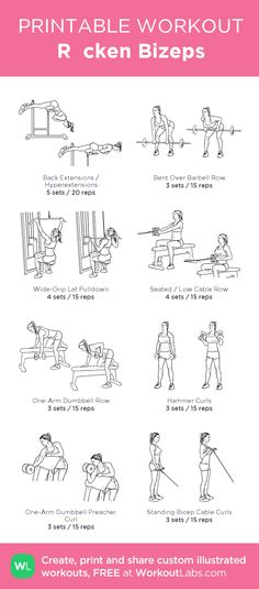 Rücken Bizeps: my visual workout created at WorkoutLabs.com • Click through to customize and download as a FREE PDF! #customworkout
