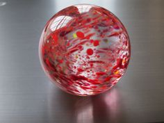 Red Romantic Glass Paperweight by nautical2004 on Etsy, $25.00