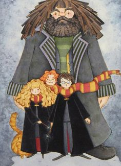size500 harrypotter cherischolten hagridandthekids detail11 40 Beautiful Harry Potter Art and Illustration Tributes