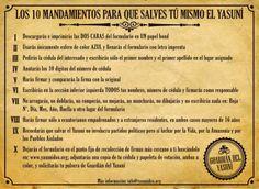10 mandamientos para que salves tú mismo el Yasuní