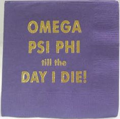 Omega Psi Phi cocktail napkins