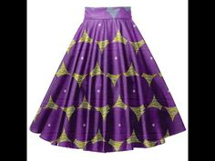 how to cutting and stitching umbrella skirt or circle skirt tutorial (english subtitles) - YouTube