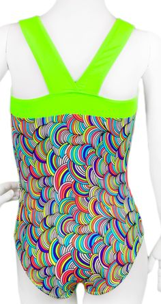 Lime Textured Yarn Leotard (Alternate View) #leotard #gymnastics #gymnast…